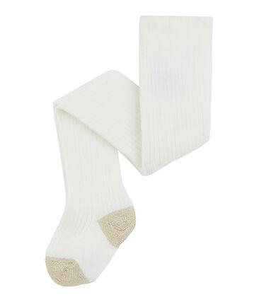 Baby-Strumpfhose für Mädchen weiss Marshmallow