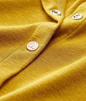 Baby-cardigan aus baumwolle/leinen mädchen gelb Bamboo
