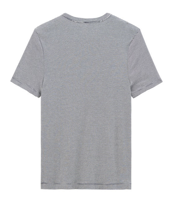Herren-T-Shirt blau Smoking / weiss Marshmallow