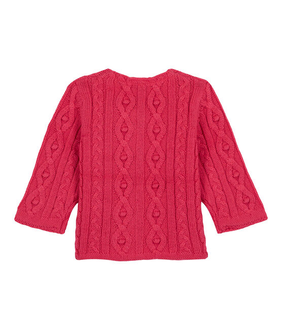 Cardigan mit Zopfmuster rosa Impatience