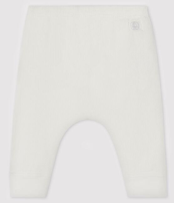 Baby-Legging aus 2x2 Rippstrick weiss Marshmallow