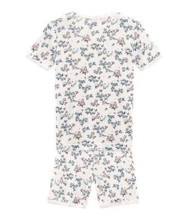 Sehr eng anliegender Rippstrick-Kurzpyjama für kleine Mädchen