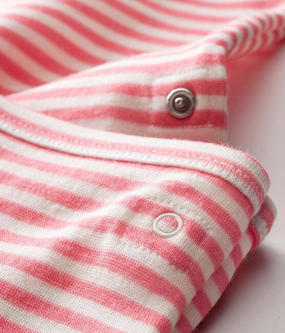 Baby Jungen Langarmbody im 2-in-1Design rosa Cheek / weiss Marshmallow