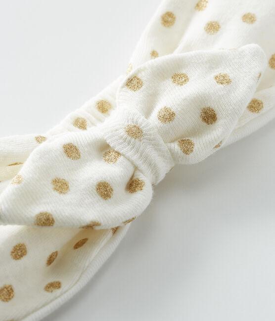 Haarband für kleine Mädchen weiss Marshmallow / gelb Or