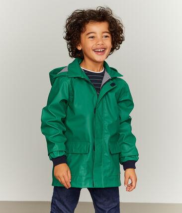 Kinder-Regenjacke unisex grün Ecology