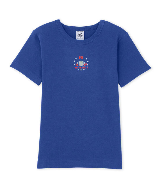 Jungen-T-Shirt mit Motiv blau Peter