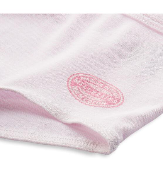 Ringelgestreifte Mädchen Shorts rosa Vienne / weiss Ecume