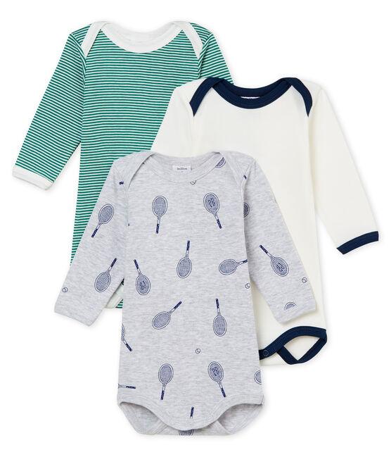 Trio langärmelige Baby-Bodys für Jungen lot .