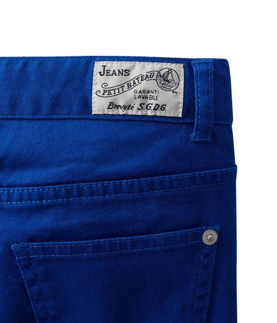 Farbige Jungen-Jeans blau Perse