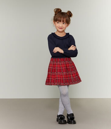 Kinder-Rock Mädchen rot Terkuit / weiss Multico