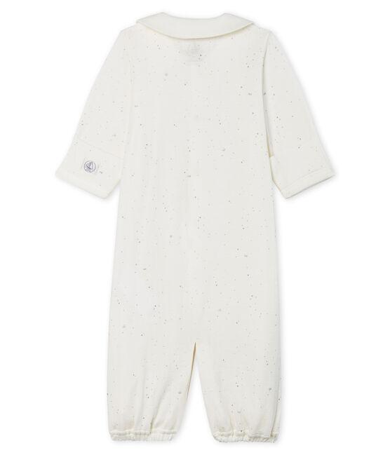 Kombi-Overall aus Doppeljersey für Babys weiss Marshmallow / weiss Multico