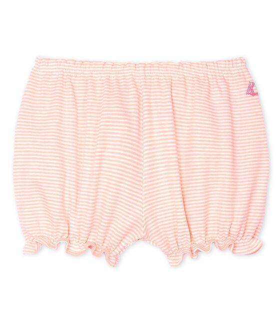 Baby-Bloomers-Höschen mit Milleraies-Streifen für Mädchen rosa Patience / weiss Marshmallow