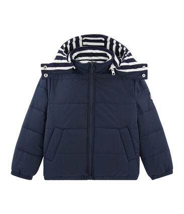 Wattierte Kinder-Jacke blau Smoking