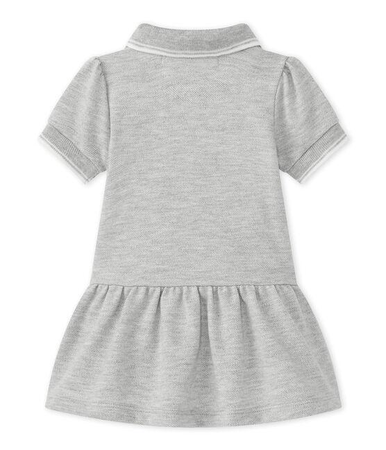 Baby Mädchen Kleid grau Beluga Chine