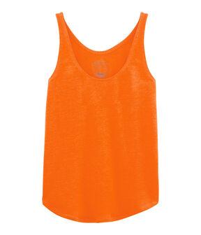 Leinen-Tanktop für Damen orange Tiger
