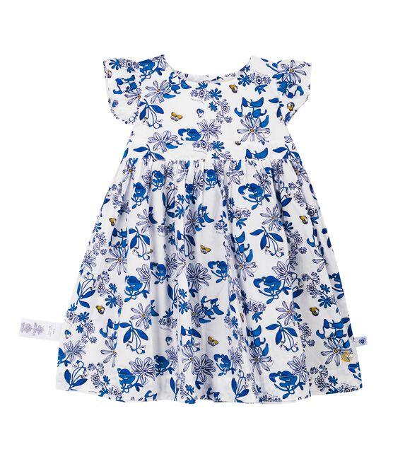 Kurzärmeliges baby-kleid mädchen weiss Marshmallow / weiss Multico Cn