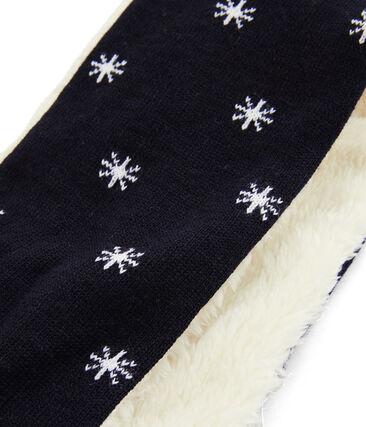 Baby-Schal für Jungen mit Sherpa-Futter blau Smoking