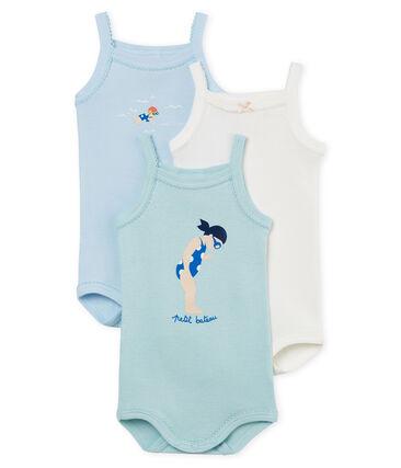 Trio Baby-Trägerbodys Mädchen