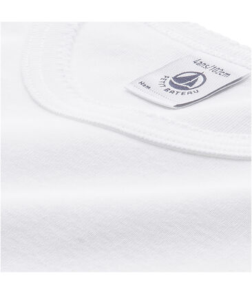 Ein Paar Langärmeliges Mädchen T-Shirt mit KokottSaum