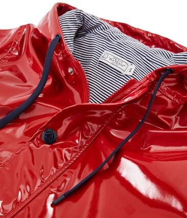 Regenjacke Lack-Look für Damen rot Terkuit