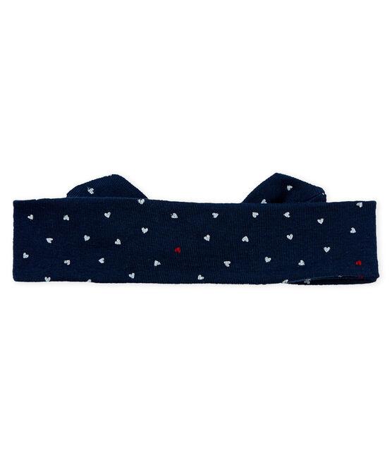 Kinder-Haarband Mädchen blau Haddock / weiss Multico