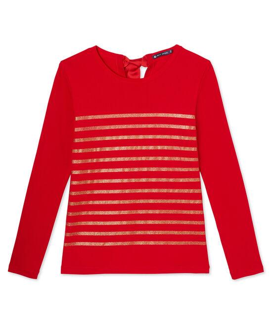 Gestreiftes Damen-Pailletten-Shirt rot Froufrou