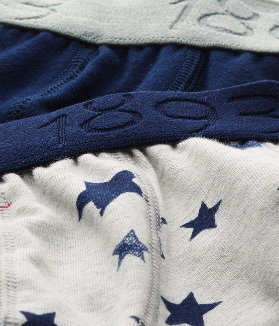 Jungen-Boxershorts aus Stretch-Jersey mit Print + in Uni im 2er-Set lot .