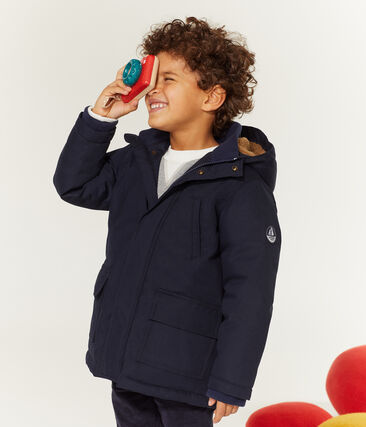 Kinder-Parka Jungen blau Smoking