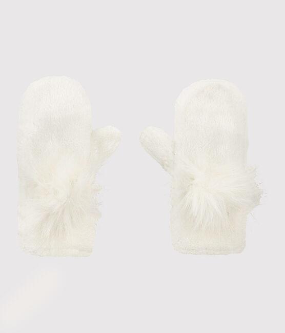 Fausthandschuhe für Mädchen weiss Marshmallow