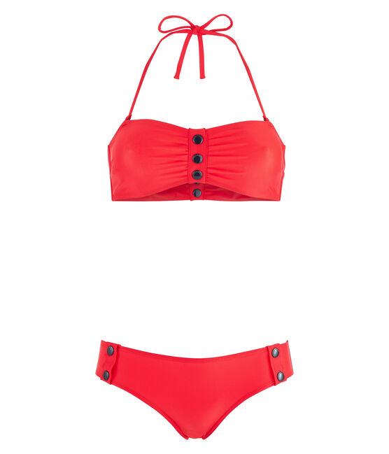 Umweltfreundlicher Bikini Damen rot Peps