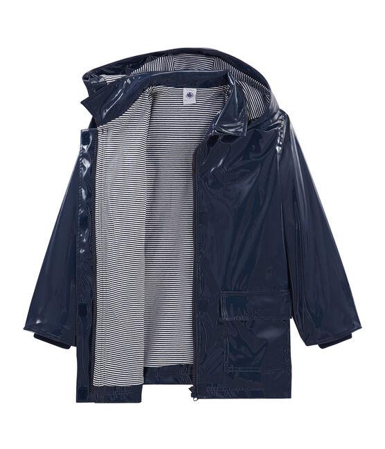 Lack-Regenjacke für Mädchen blau Smoking