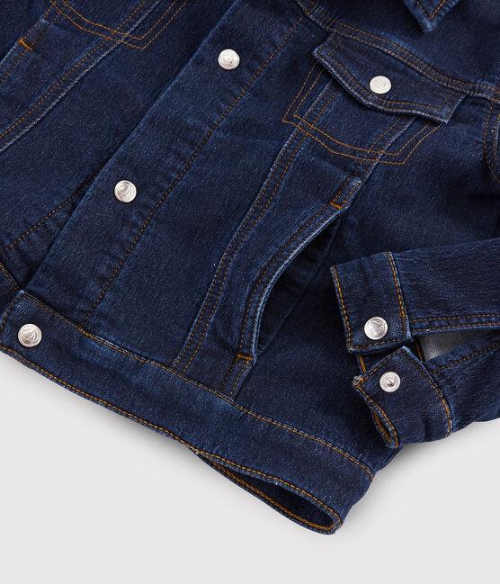 Kinder-Jeansjacke für Jungen blau Denim Bleu Fonce