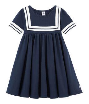 Kinder-Kleid Mädchen blau Smoking