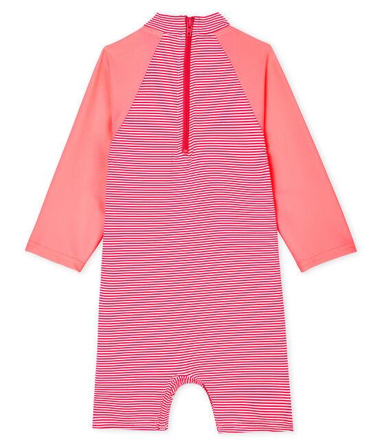 Umweltfreundlicher Badeanzug Baby Mädchen/Jungen rosa Geisha / weiss Marshmallow