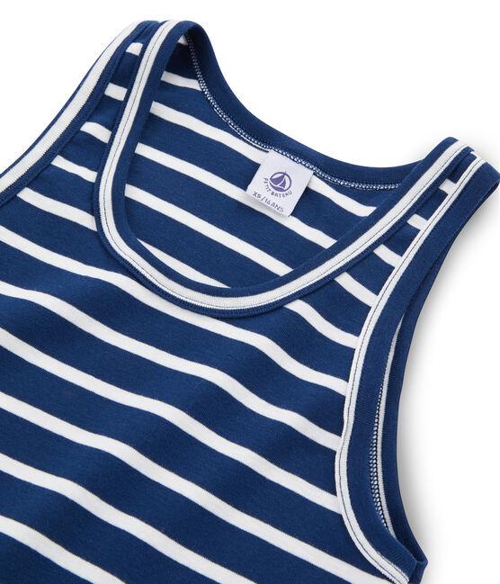 Ikonisches Tanktop für Damen blau Medieval / weiss Marshmallow