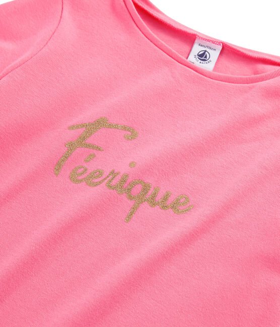 Langarm-T-Shirt für Mädchen rosa Cupcake