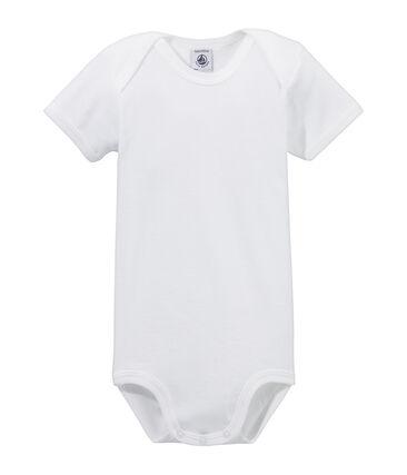 Kurzärmeliger Baby-Body weiss Ecume