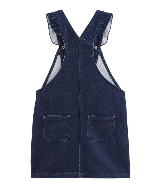 Kinder-Latzkleid für Mädchen blau Denim Bleu Fonce