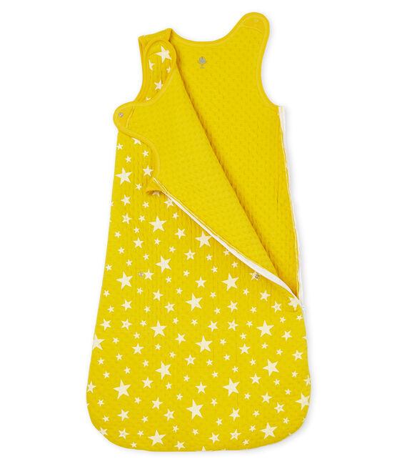Kompakter Baby-Schlafsack aus Doppeljersey für Jungen gelb Honey / weiss Marshmallow