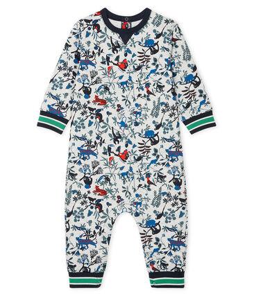 Langer Baby-Overall aus gestepptem Doppeljersey für Jungen grau Beluga / weiss Multico