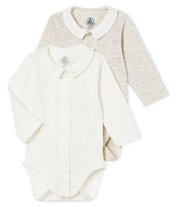 2er-Set langärmelige baby-bodys mit kragen jungen