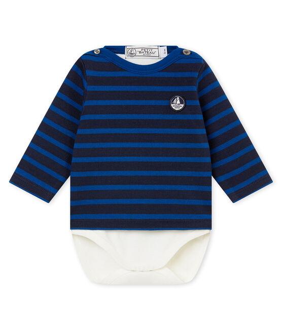 Klassisches Baby Jungen Streifenshirt blau Smoking / blau Limoges