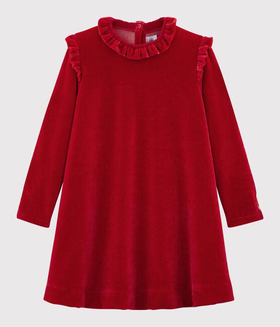 Langärmeliges Kinderkleid für Mädchen rot Terkuit
