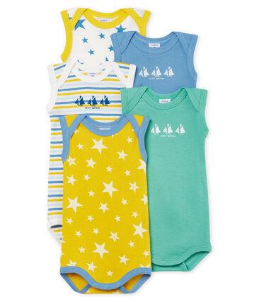 5er-Set kurzärmelige Baby-Bodys für Jungen