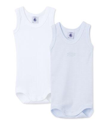 Duo aus ärmellosen Baby-Bodys für Jungen