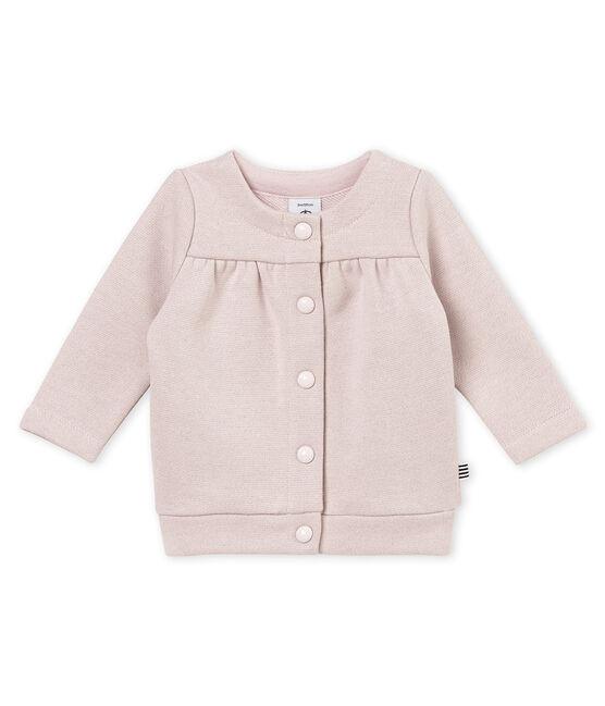 Glitzernder Baby MädchenCardigan aus Molton rosa Joli / gelb Dore
