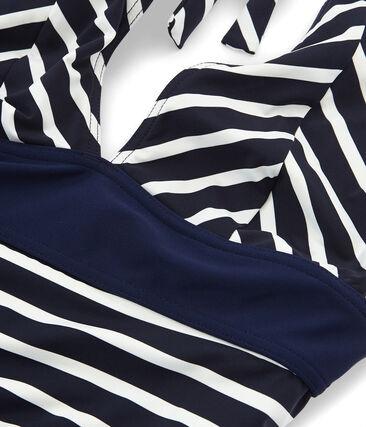 Einteiliger Badeanzug blau Smoking / weiss Marshmallow