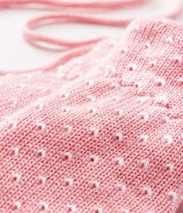 Baby-Fäustlinge, unisex, mit Fleecefutter rosa Charme / weiss Marshmallow