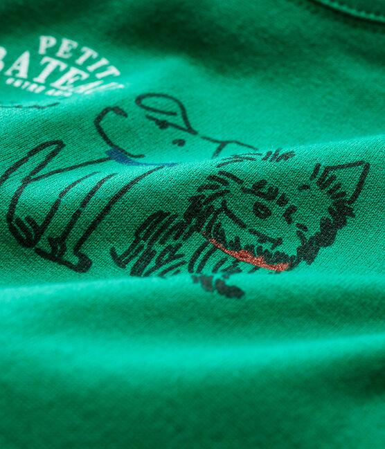 Langärmeliges Baby-T-Shirt für Jungen grün Ecology