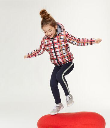 Warme Kinder-Windjacke unisex weiss Marshmallow / rot Signal